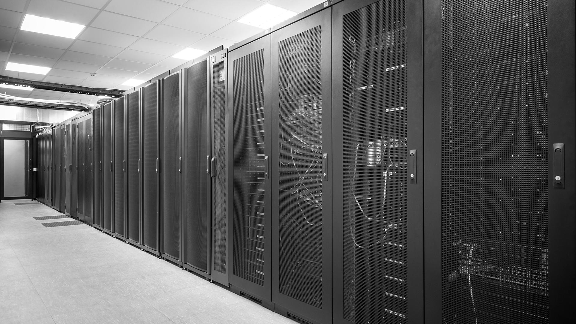 slide picture data center blackwhite