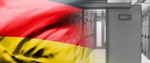 german flag on racks temperature control background