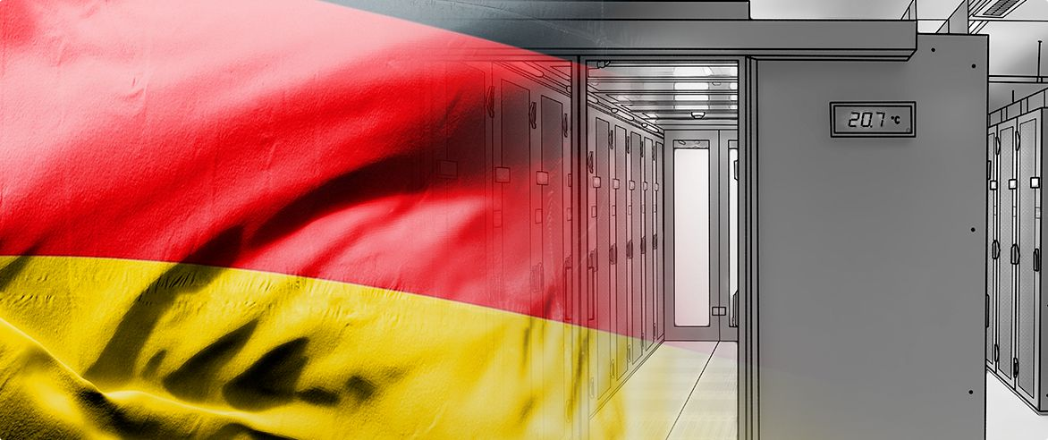 german flag inside rack temperature control picture