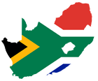 south african flag and country