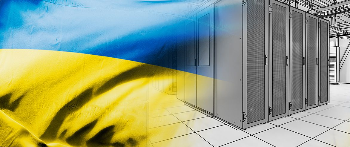 ukrainian flag inside rack drawing picture
