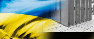 ukrainian flag on racks drawing background